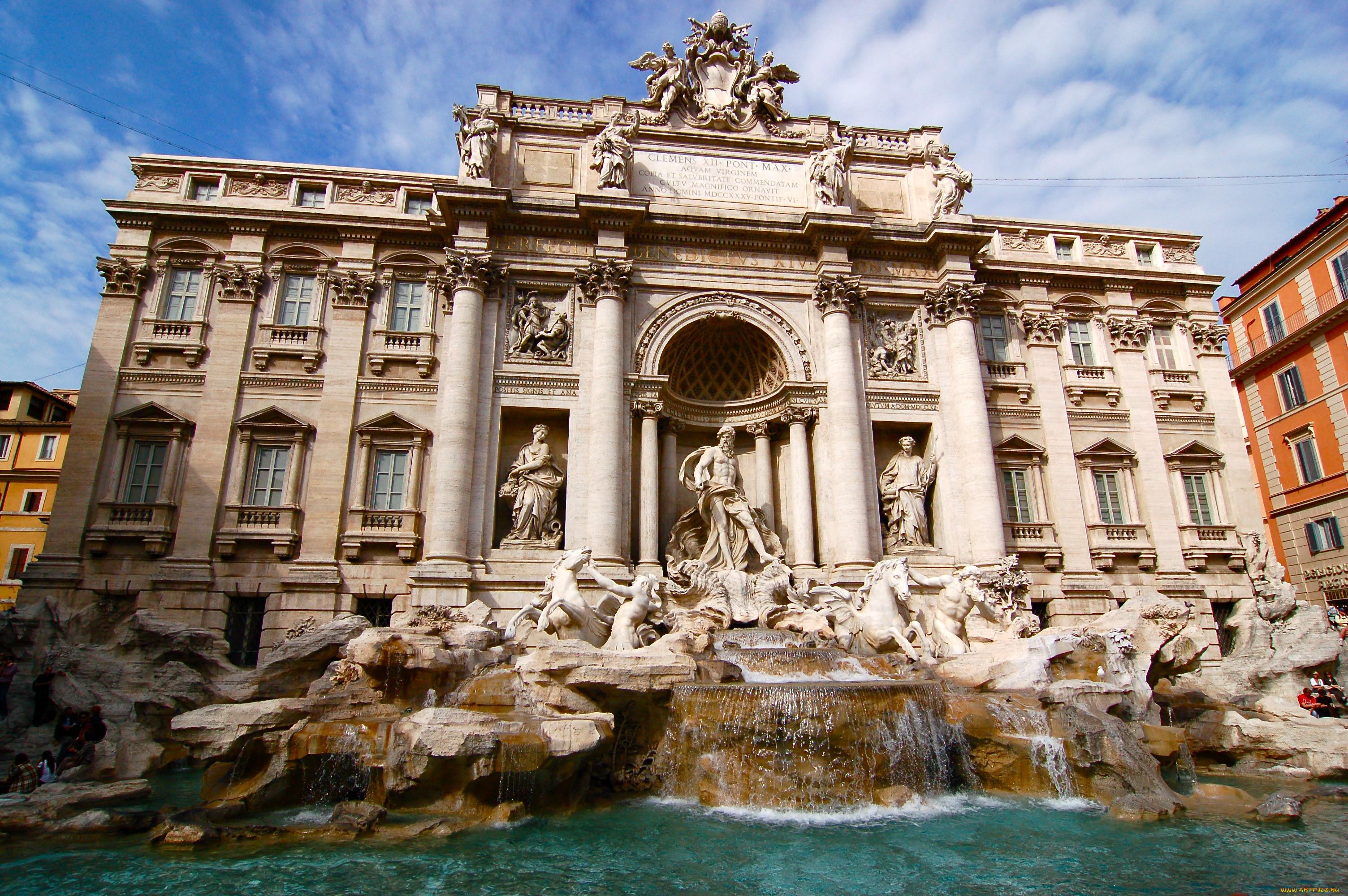 Рим ватикан италия дворец фонтаны